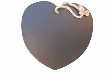 Hartvormig krijtbord aan touw