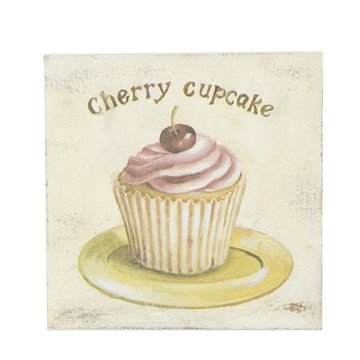 Schilderij met cupcake