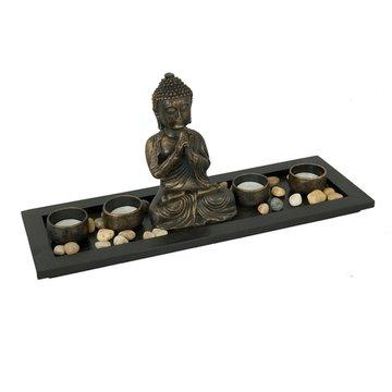 Waxinelichthouder met Buddha