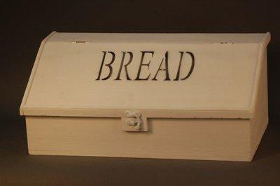 Wit houten broodbak (Bread)